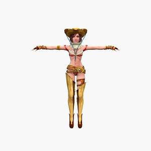 3D Girl musketeer V4