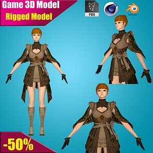 3D valkyrie character warrior