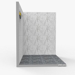 3D model bathroom studio bath tiles