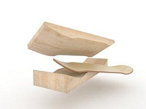 milled skateboard mold boards 3D model