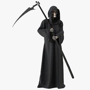 3D Death Holding a Scythe