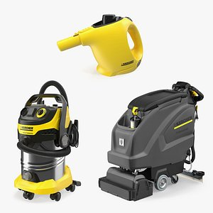3D Karcher Clearing Tools Collection model