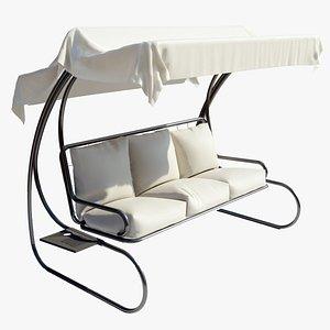 3D garden swing seat model