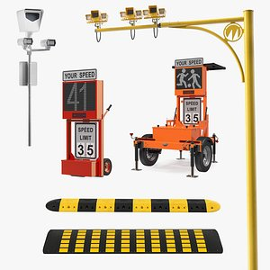 Traffic Speed Control Equipment Collection 3D model