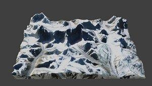 3D Cho Oyu Mountain model
