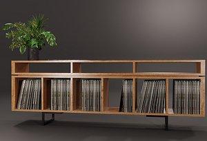 vinyl storage 3D