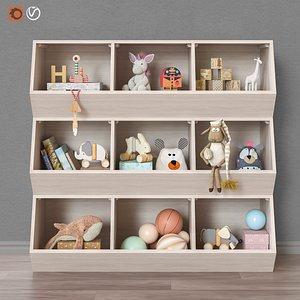 set furniture toys 3D model