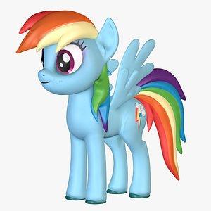 rainbow dash little pony 3D model