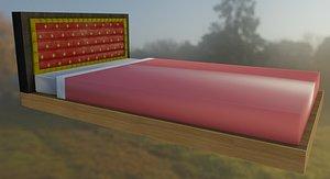 3D Double Bed model