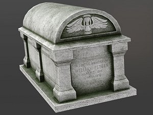 3D chest tomb