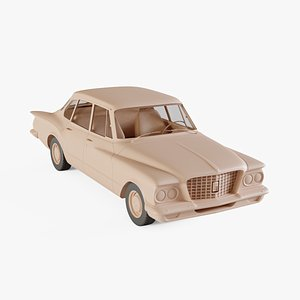 1960 Plymouth Valiant 3D