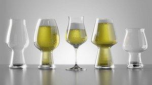 3D Beer glasses model
