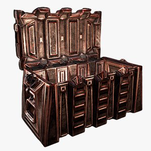 chest crate container 3D