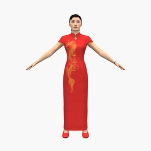 chinese woman 3D model