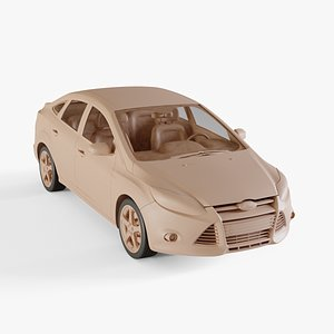 2012 Ford Focus sedan 3D