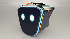 Game Character Robot Head 3D
