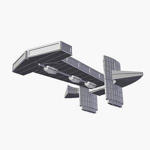 3d stargate sg1 beliskner asgard model