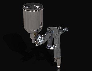 spray gun 3D