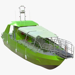3D model Excursion Boat Green