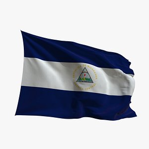 Realistic Animated Flag - Microtexture Rigged - Put your own texture - Def Nicaragua 3D
