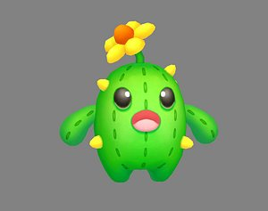 3D model cactus monster doll