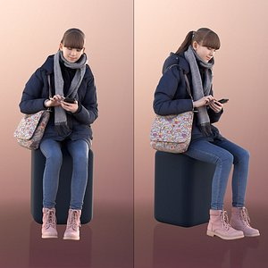 girl young phone 3D