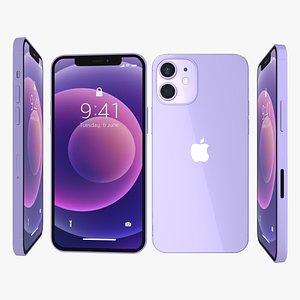Iphone 12 Purple 3D