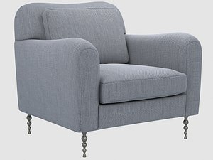 hillcrest lounge armchair kelly 3D model