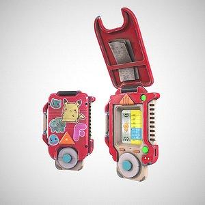 3D Pokedex and pokeball saphire version