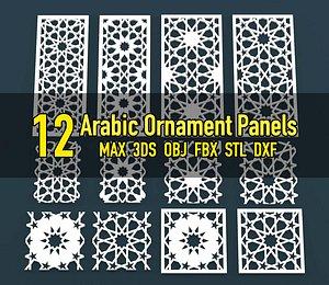 3D model ornament arabic cnc