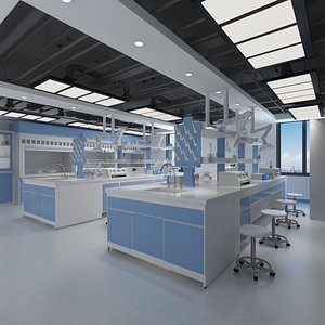 Fully Equipped Chemical Laboratory 3D model