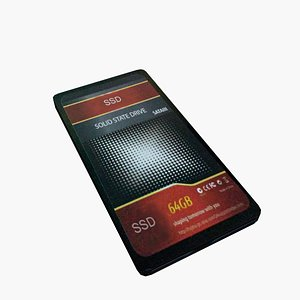 SSD Drive Computer 3D model
