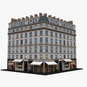 3D Typical Parisian Apartment Building 29 model