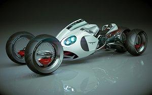T Bike 2 3 Wheel 02 3D model