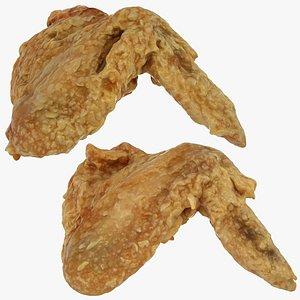3D crispy chicken wing