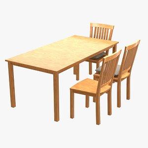 wood table blender 3D model