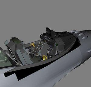 3D f-16 cockpit model