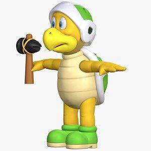 Hammer Bro Character 8K  Super Mario Assets model