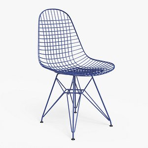 Wire Chair DKR Blue - PBR model