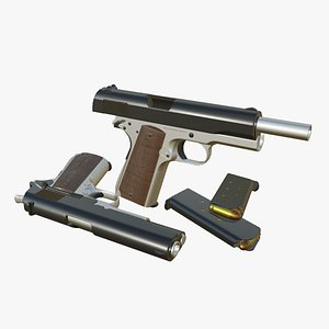 pistol weapon gun 3D model