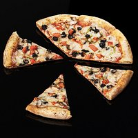 Vegetarian pizza. Pieces