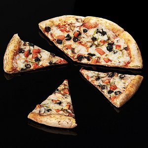 3D vegetarian pizza model