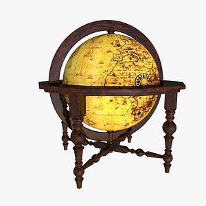 legno globe 3D