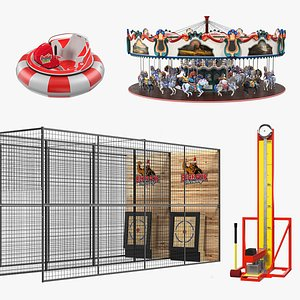 3D Amusement Park Games Collection model
