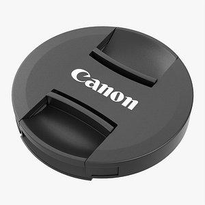 3D Canon camera lens cover