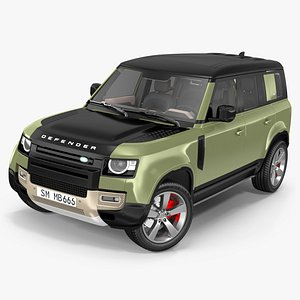3D Land Rover Defender Country Pack Rigged model