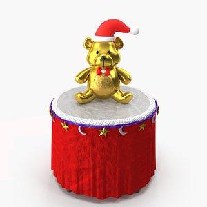 3D christmas bear model