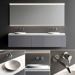 3D vanity strato bathroom set