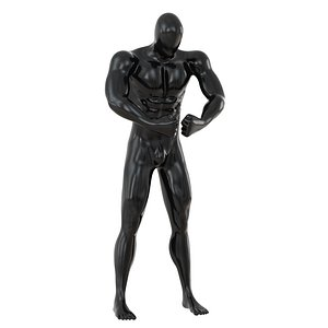 3D abstract fitness mannequin muscles