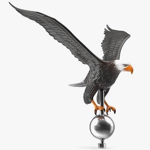 3D flying eagle flagpole topper